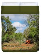 Resting Longhorn Bull - San Marcos Texas Hill Country Duvet Cover