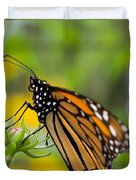 Resting Monarch Butterfly Duvet Cover
