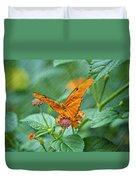 Resting Orange Butterfly Duvet Cover