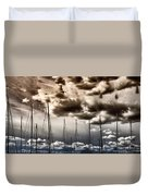 Resting Sailboats Duvet Cover by Stelios Kleanthous