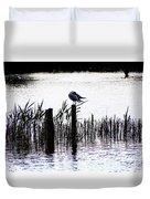 Resting Seagull  Duvet Cover