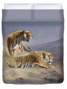 Resting Tigers Duvet Cover