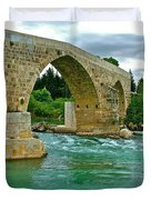 Restored Roman Bridge Over Eurynedan River-turkey Duvet Cover