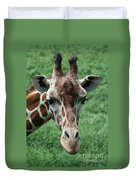 Reticulated Giraffe Duvet Cover