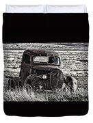 Retired Farm Truck Duvet Cover