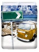 Retro Beach Van Duvet Cover