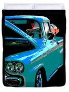 Retro Blue Truck Duvet Cover