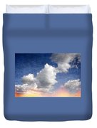 Retro Clouds 2 Duvet Cover