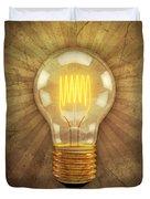 Retro Light Bulb Duvet Cover