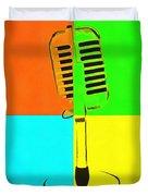Retro Microphone Pop Art 2 Duvet Cover