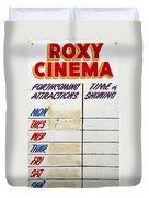 Retro Roxy Cinema Sign Duvet Cover