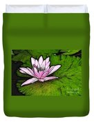 Retro Water Lilly Duvet Cover by Bob Christopher