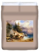 Return From The Mountain Pasture Duvet Cover