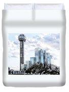 Reunion Tower Dallas Texas Duvet Cover