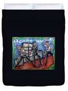 Revolution Rock The Clash Duvet Cover by Jason Gluskin
