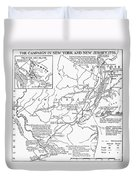 Revolutionary War Map, 1776 Duvet Cover
