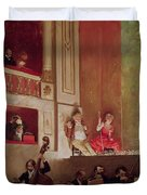 Revue At The Theatre Des Varietes, C.1885 Oil On Canvas Duvet Cover