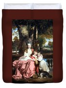 Reynolds' Lady Elizabeth Delme And Her Children Duvet Cover