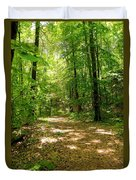 Wooded Path 16 Duvet Cover