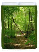 Wooded Path 17 Duvet Cover