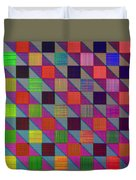 Rgby Squares II Duvet Cover