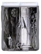 Rheims Cathedral, Scene From St Joan Duvet Cover