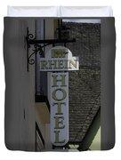 Rhine Hotel St Martin Sign  Duvet Cover