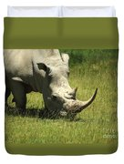 Rhino Covered In Flies Duvet Cover