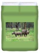 Rhino Family Duvet Cover