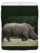 Rhino In The Wild Duvet Cover