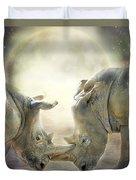 Rhino Love Duvet Cover