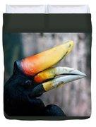 Rhinoceros Hornbill  Duvet Cover by Ernie Echols
