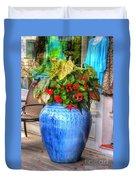 Rhode Island Flowers Duvet Cover