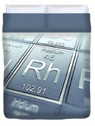 Rhodium Chemical Element Duvet Cover