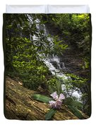 Rhododendron At The Falls Duvet Cover
