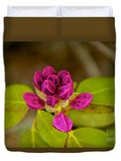 Rhododendron Bud Duvet Cover