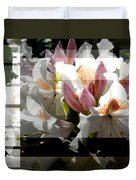 Rhododendron Collage Duvet Cover