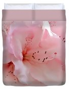 Pink Rhododendron Flower Duvet Cover