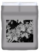 Rhododendron Heaven In Black And White Duvet Cover