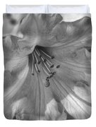 Rhododendron In Black And White Duvet Cover