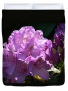Rhododendron In The Morning Light Duvet Cover