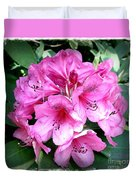 Rhododendron Square With Border Duvet Cover