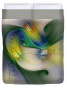 Rhythm Of Life-abstract Fractal Art Duvet Cover