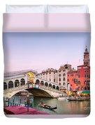 Rialto Bridge At Sunset - Venice Duvet Cover