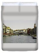 Rialto Bridge Venice Duvet Cover