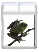 Ribbeting Frog In A Bucket Duvet Cover
