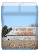 Ribbon Roof Barn Duvet Cover