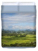 Rice Farming In China Duvet Cover