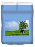 Rice Fields Duvet Cover