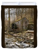 Rice Grist Mill And Threshing Barn  Duvet Cover